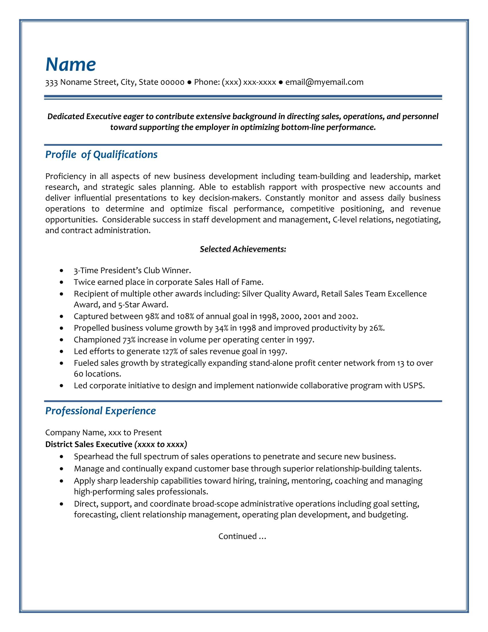 Free Resume Samples | Resume Writing Group