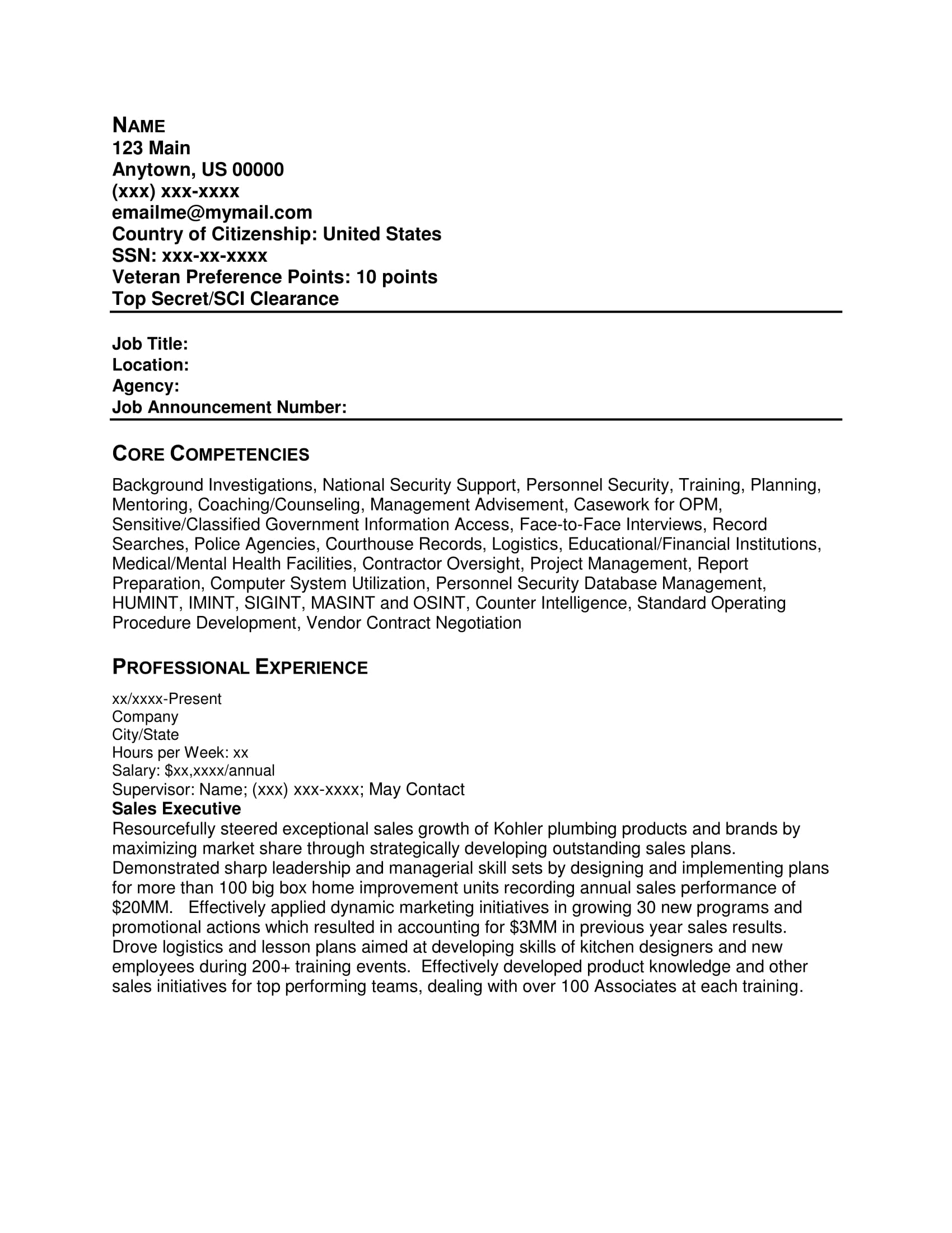 Free Resume Samples Resume Writing Group