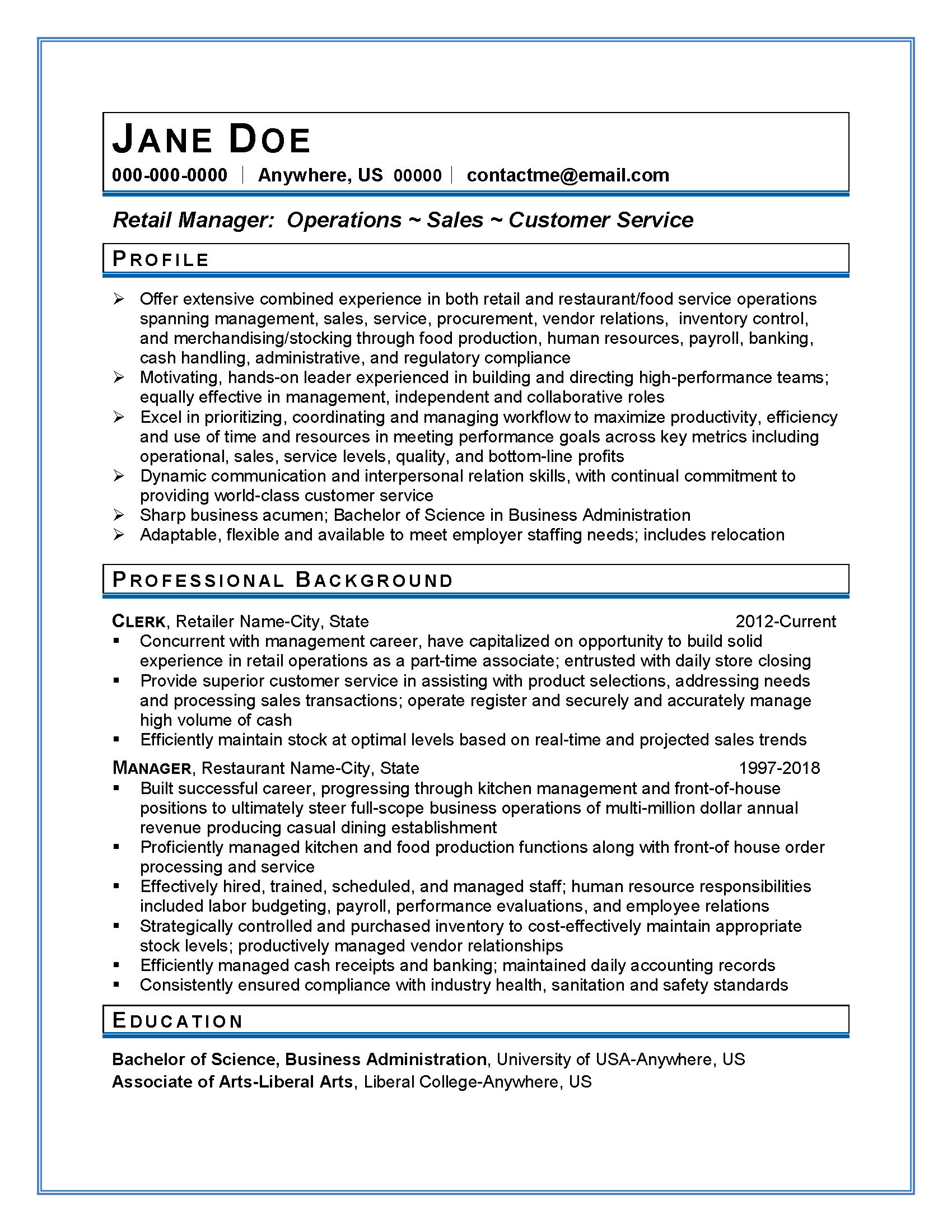 applicant tracking system (ATS) resume