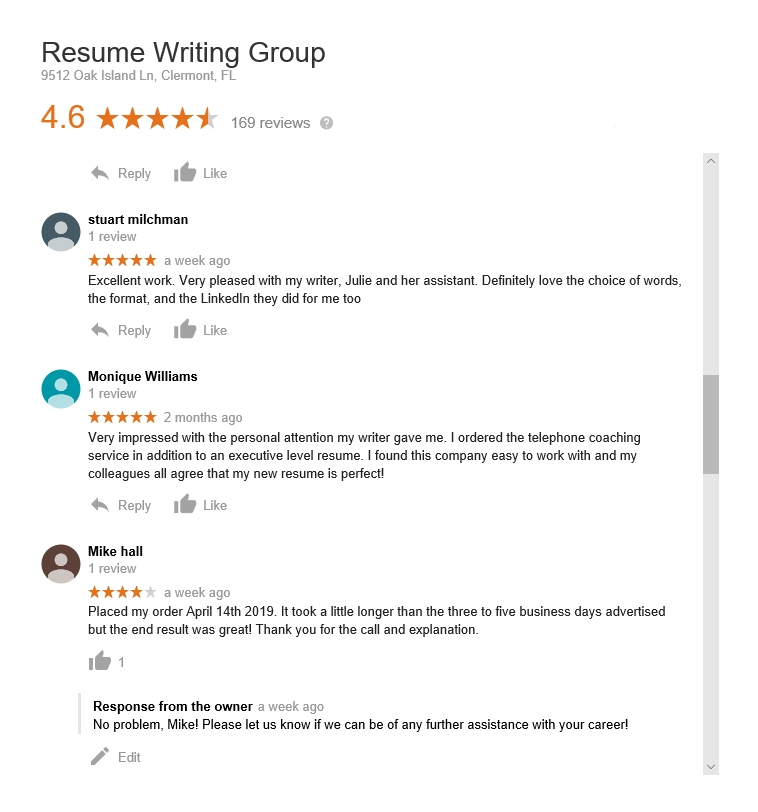 reviews - the resume writing group by mike hall