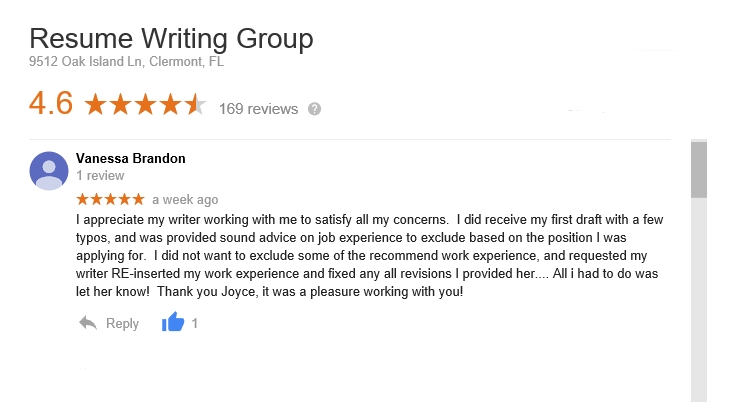 a review of the resume writing group by vanessa brandon
